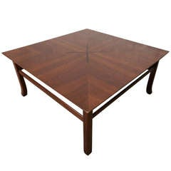 Impressive Kipp Stewart Walnut Coffee Table with Rosewood Inlay