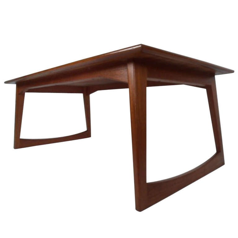 Danish Modern Sled Leg Coffee Table At 1stdibs