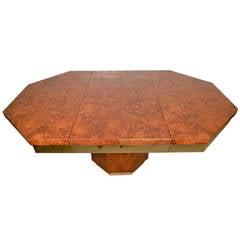 Impressive Milo Baughman Style Two-Leaf Mid-Century Table