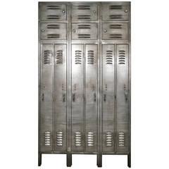Massive Mid-Century Locker Unit