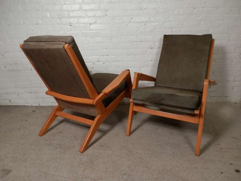 Pair Of Mid Century Modern Arm Chairs By Pierre Gauriche