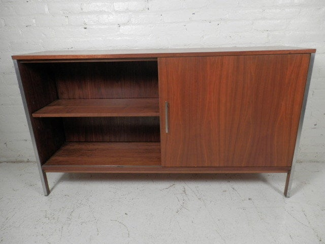 sliding door cabinet lock glass display showcase shop plans mid century double sided