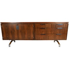 Vintage Modern Rosewood Credenza by Imperial Desk Co.