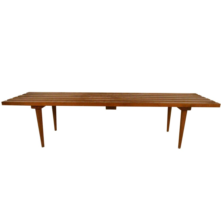 Wood Slat Coffee Table At 1stdibs