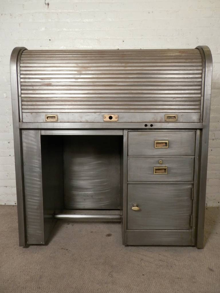 American Metal Rolltop Watchmaker Desk For