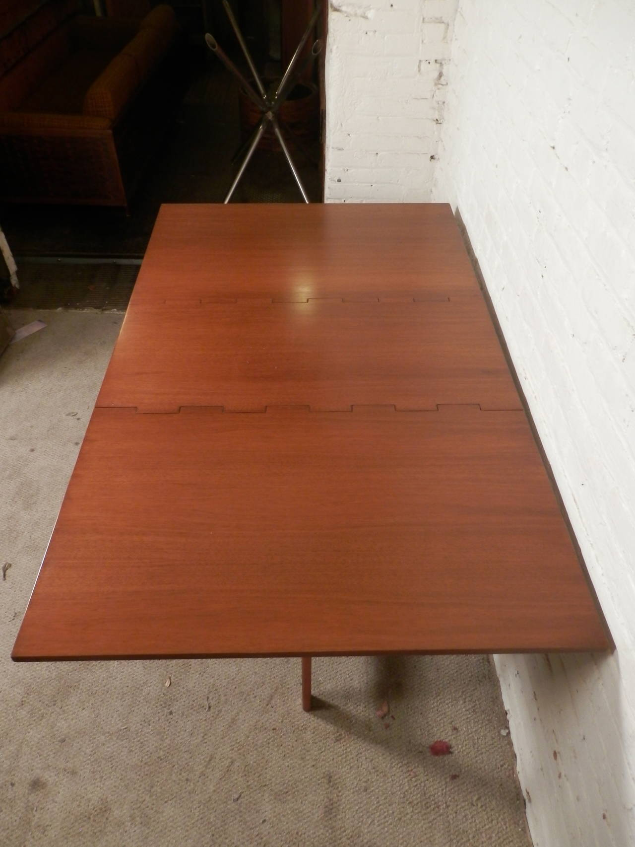 Mid-Century Drop Leaf Table By George Nelson For Sale 2
