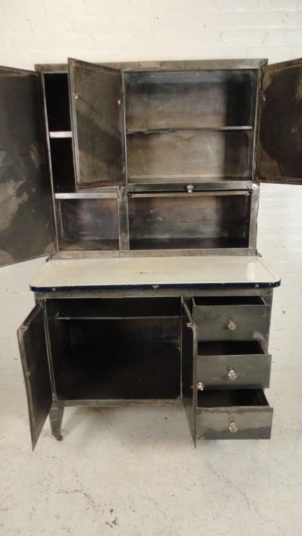 vintage metal hoosier cabinet image 4