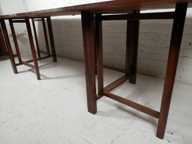 georgous fold out dinning table at 1stdibs. Black Bedroom Furniture Sets. Home Design Ideas