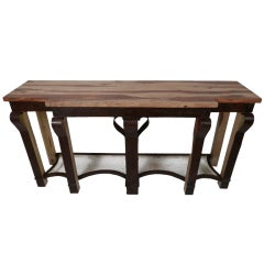 Beautiful Metal And Wood Console Table