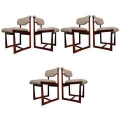 Six Brazilian Rosewood Chairs