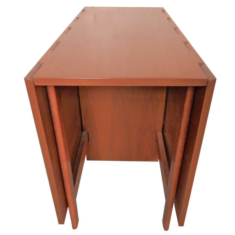 Mid-Century Drop Leaf Table By George Nelson For Sale