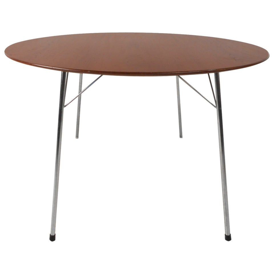 Arne Jacobsen Teak Dining Table for Fritz Hansen, Model 3600