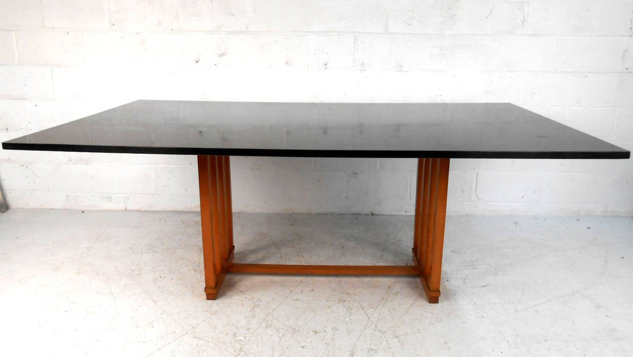 Large unique mid century modern frank lloyd wright style for Unusual dining tables for sale