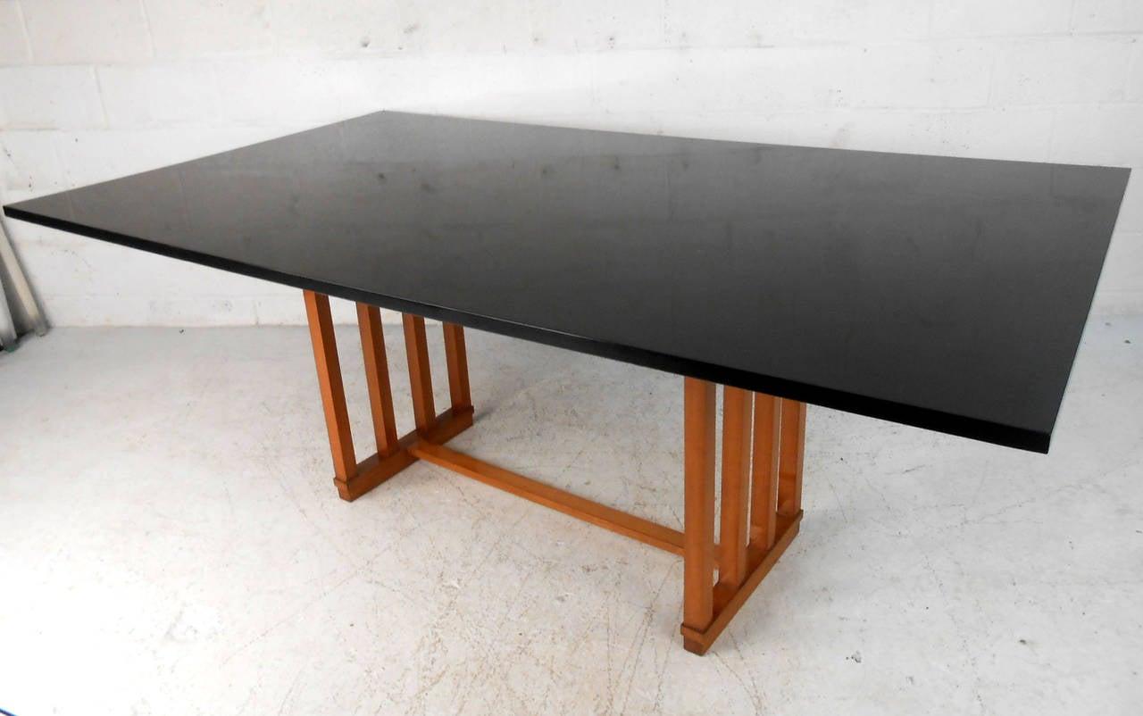 large unique mid century modern frank lloyd wright style. Black Bedroom Furniture Sets. Home Design Ideas