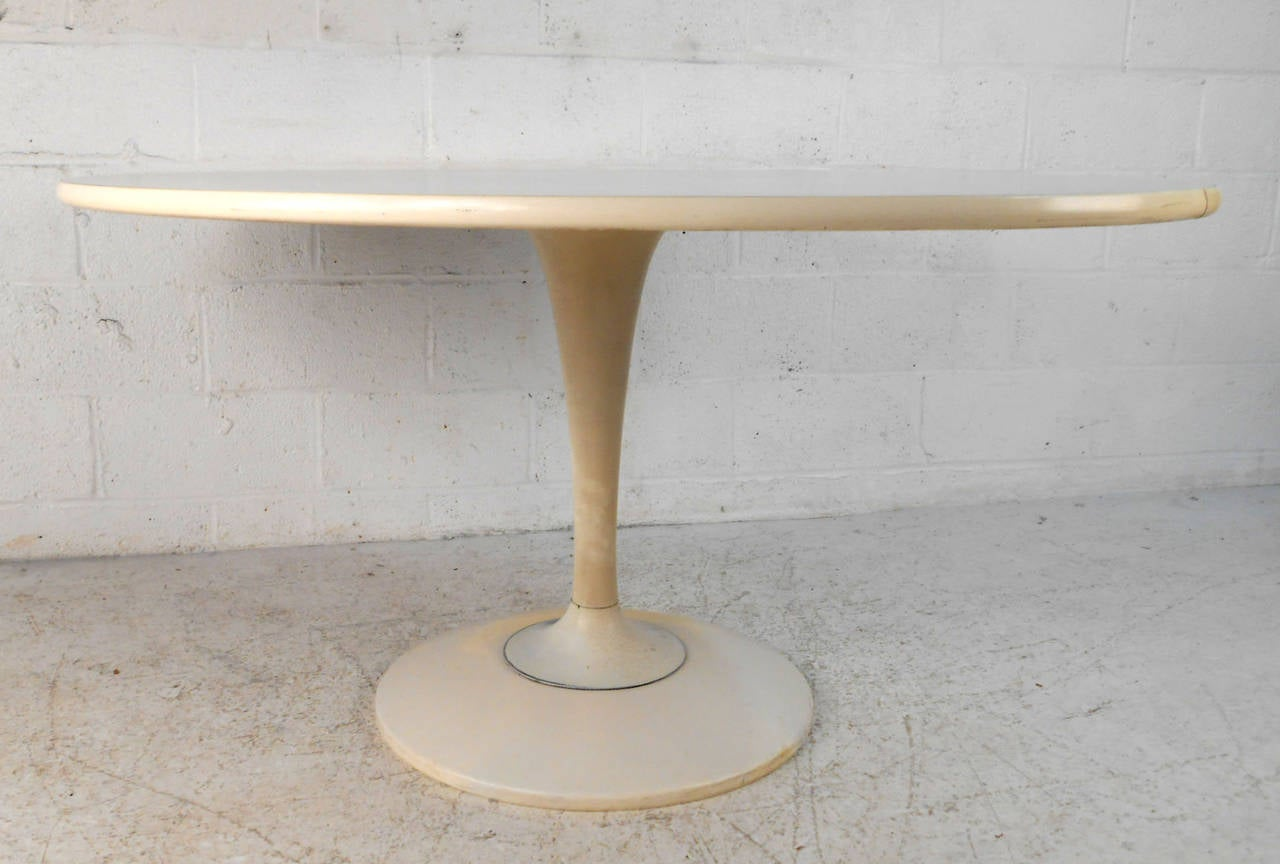 Mid Century Modern Knoll Style Tulip Pedestal Dining Table For Sale At