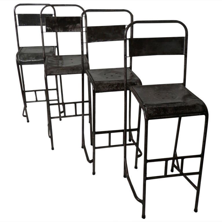 Metal Stackable Bar Stool At 1stdibs