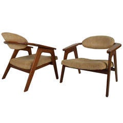 Pair of Vintage Accent Chairs by Adrian Pearsall