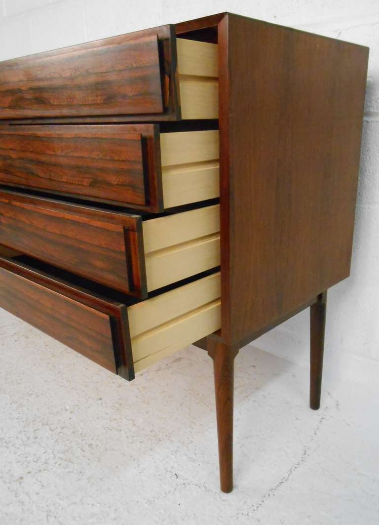 Danish Rosewood Credenza by Maurice Villency In Excellent Condition In Brooklyn, NY
