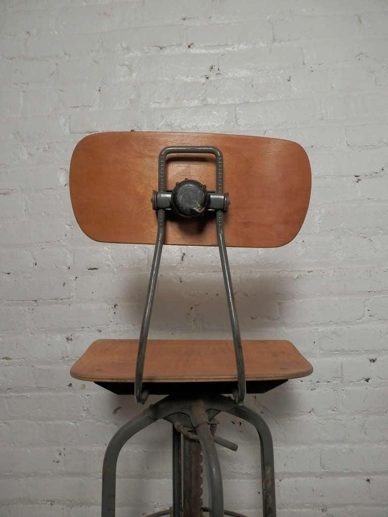 Vintage mid century modern industrial ajustrite drafting stool chair - Pair Of Vintage Drafting Stools By Charles Bruning At 1stdibs