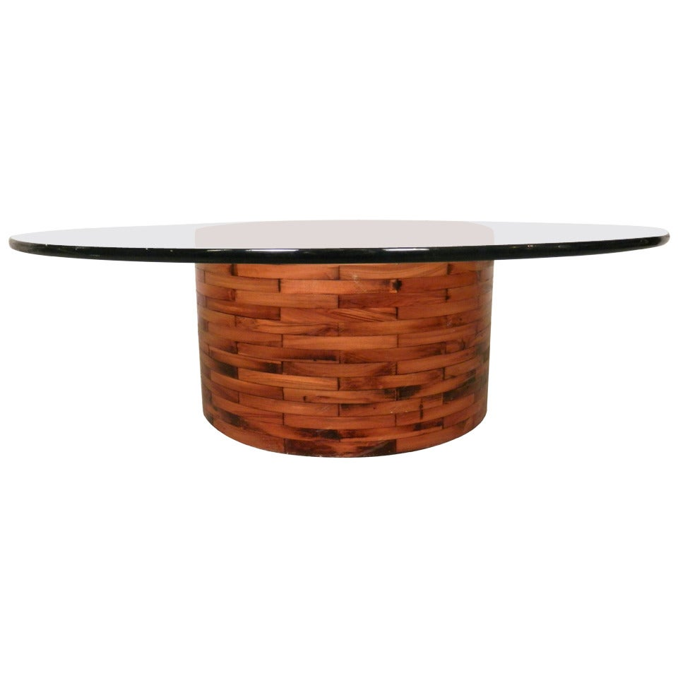 Unique Table Base: Unique Weave Style Table Base For Sale At 1stdibs