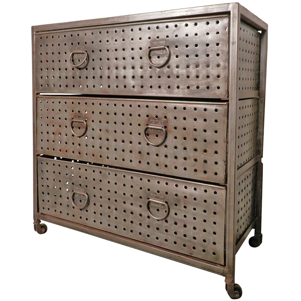 bare metal style industrial dresser at 1stdibs. Black Bedroom Furniture Sets. Home Design Ideas