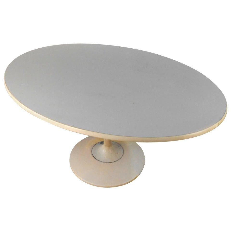 Mid-Century Modern Knoll Style Tulip Pedestal Dining Table