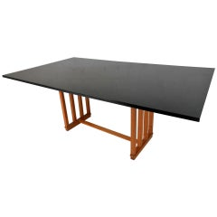 Large Unique Mid-Century Modern Frank Lloyd Wright Style Dining Table