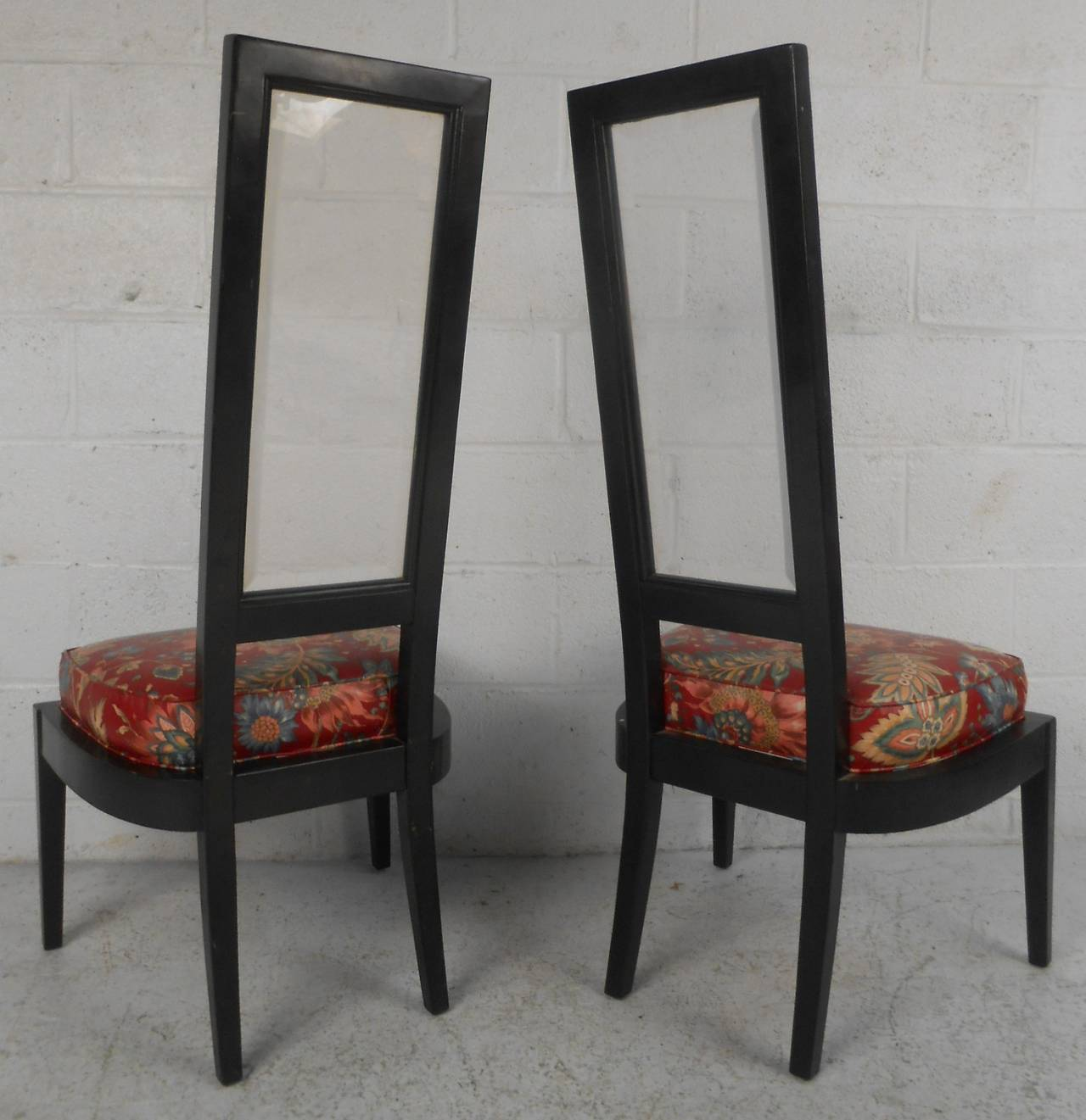 Vintage Modern Black Lacquer Dining Hairs For Sale At 1stdibs