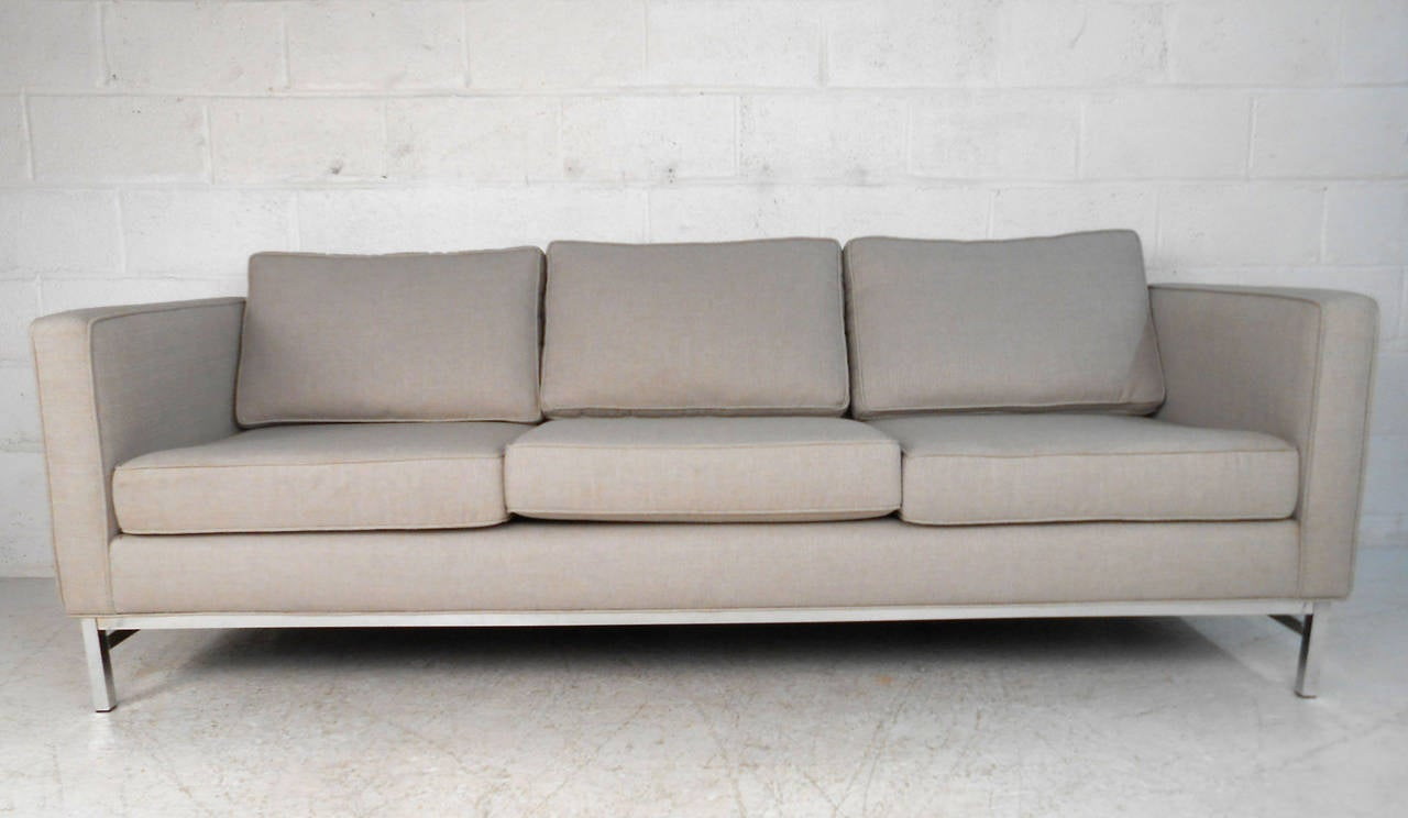 Exquisite mid century modern florence knoll style sofa for for Florence modern sectional sofa