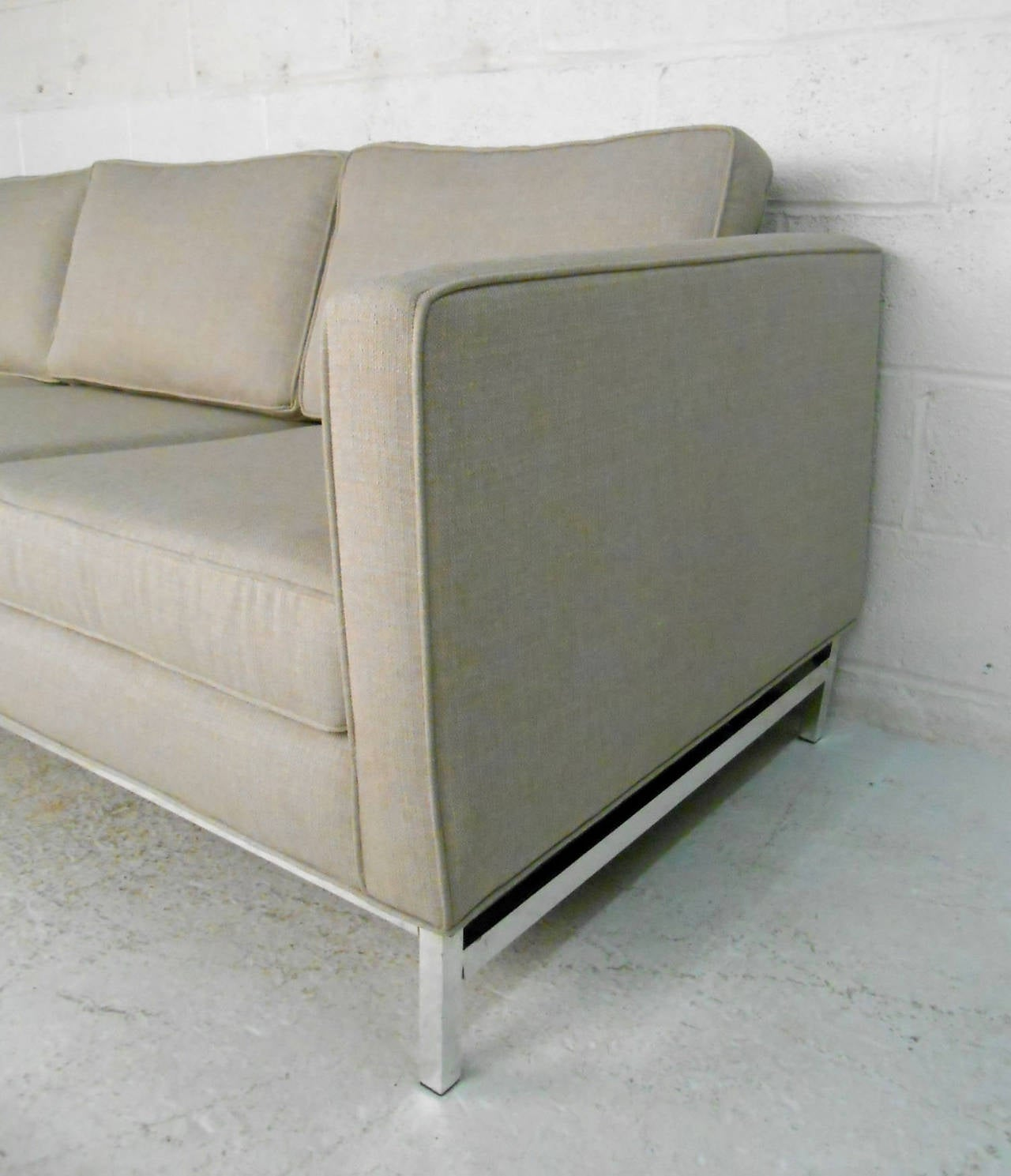 Mid-20th Century Mid-Century Modern Sofa after Florence Knoll For Sale