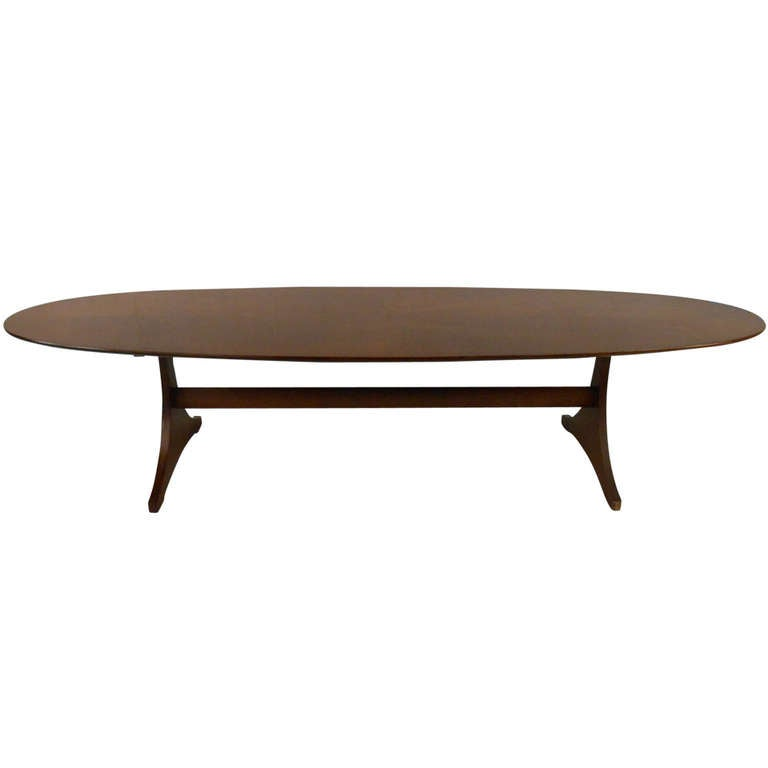 long mid century modern coffee table for sale at 1stdibs. Black Bedroom Furniture Sets. Home Design Ideas