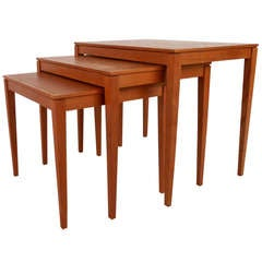 Set of Mid-Century Danish Teak Nesting Tables