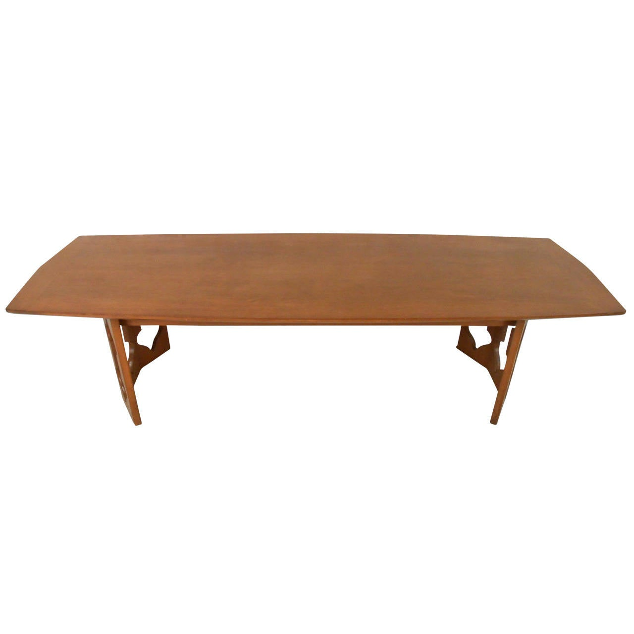 Mid century modern sculpted base coffee table for sale at for Modern coffee table for sale