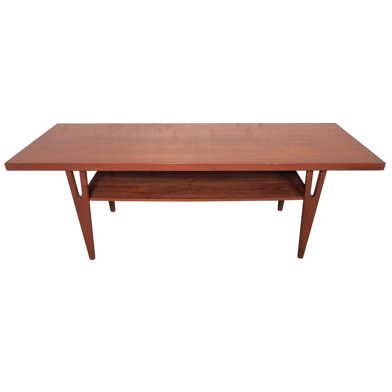 Kurt Stervig Style Teak Coffee Table For Sale At 1stdibs