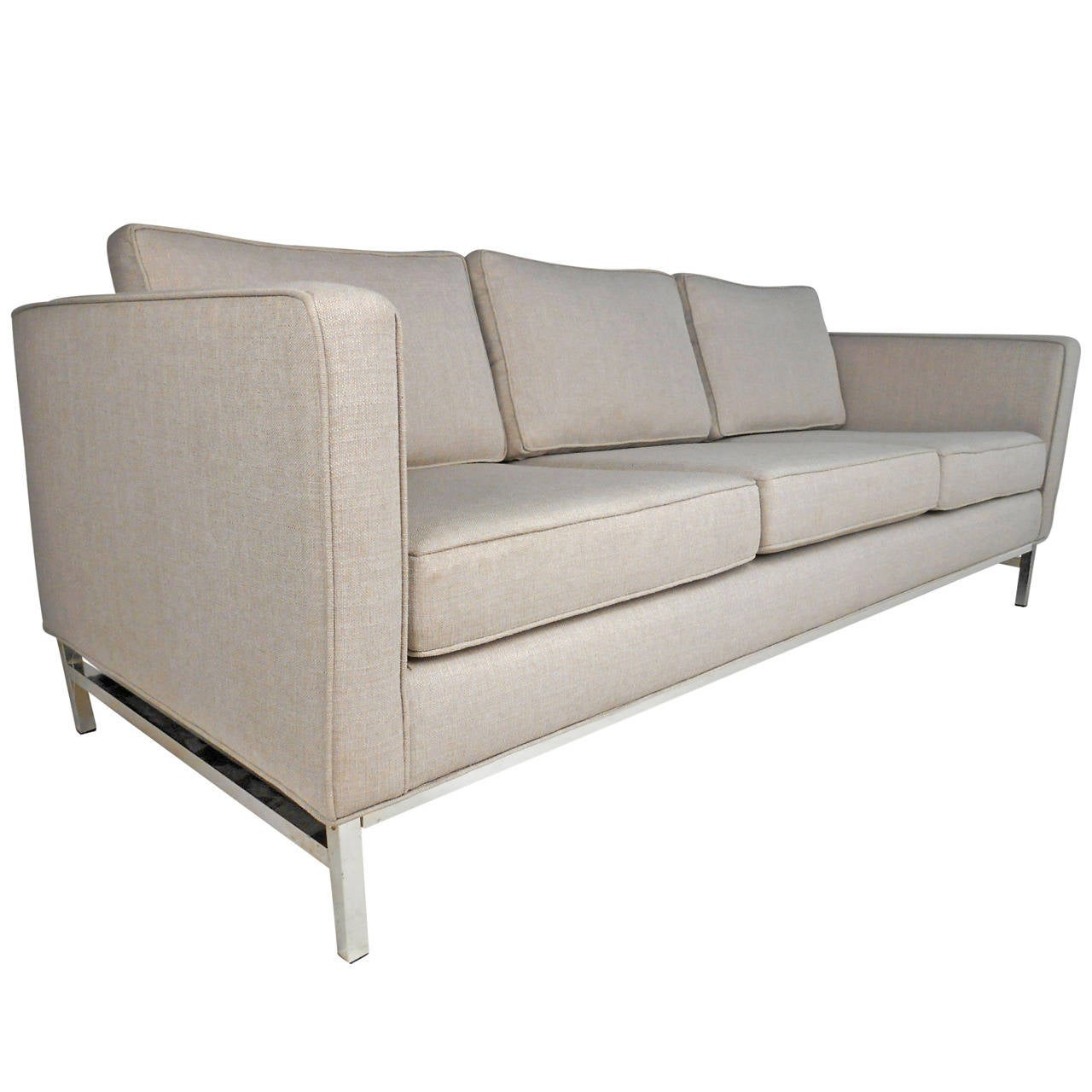 exquisite mid century modern florence knoll style sofa at 1stdibs. Black Bedroom Furniture Sets. Home Design Ideas