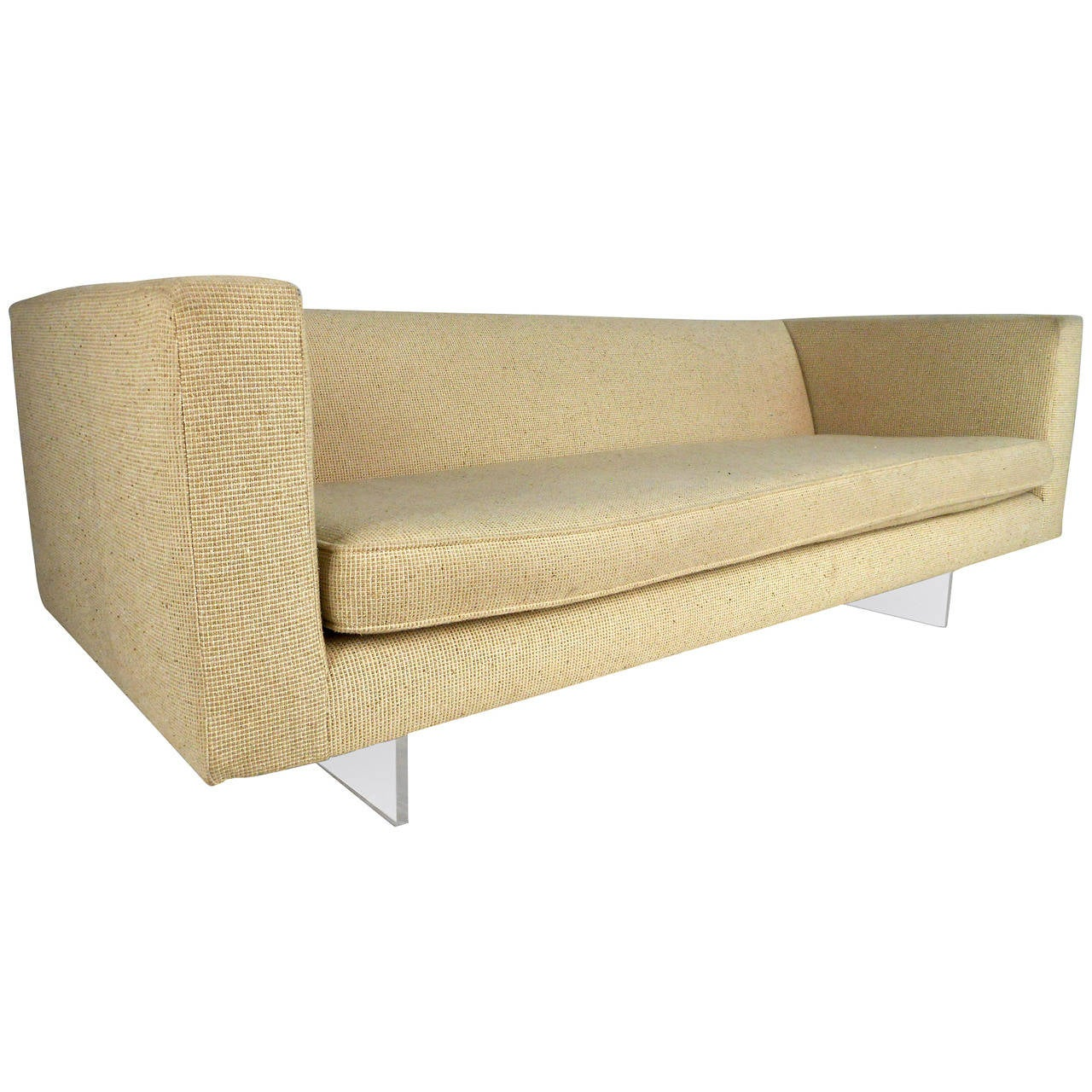Unusual Sofas For Sale: Unique Mid-Century Modern Harvey Probber Sofa On Lucite