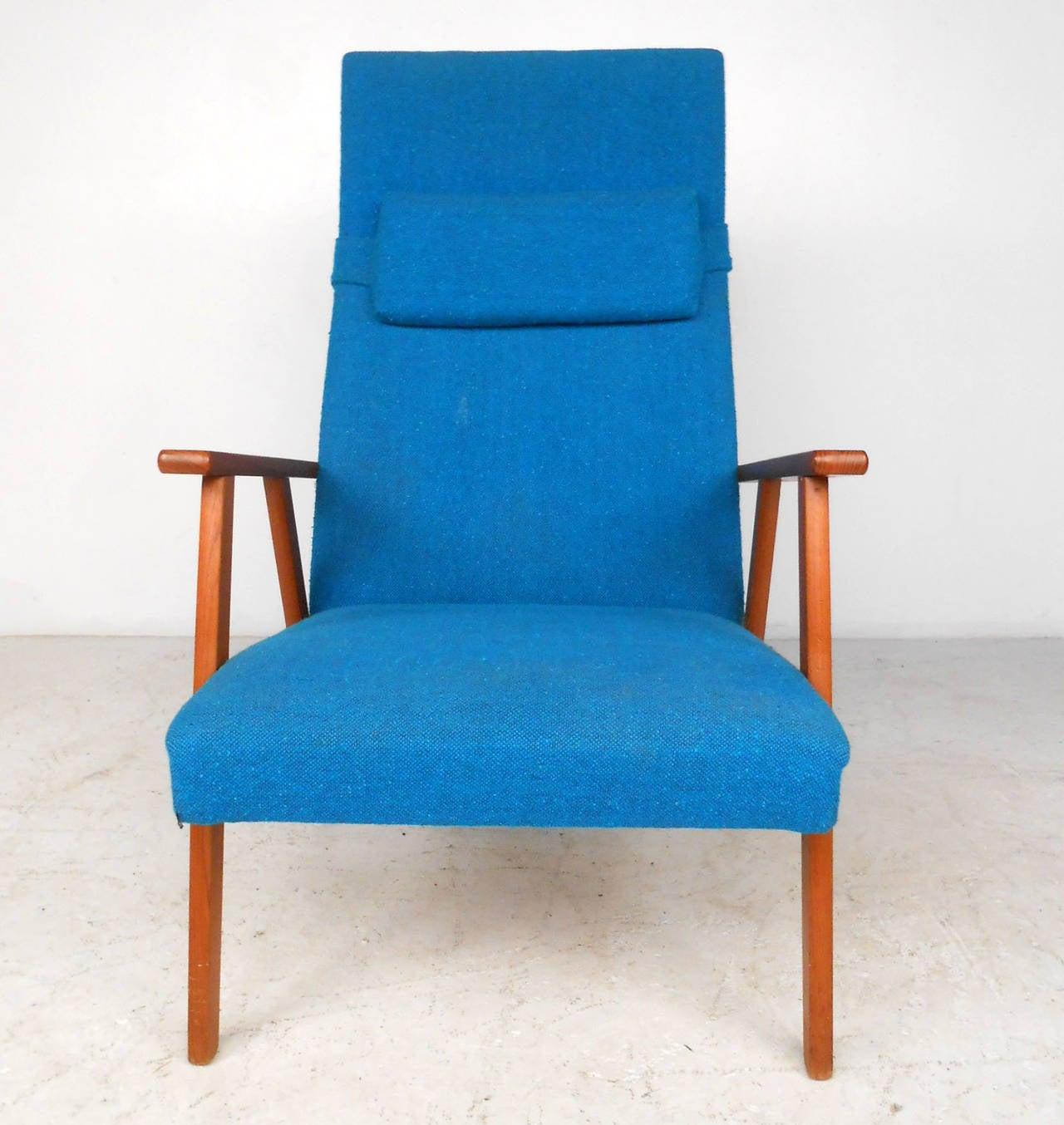 Danish  Mid-Century Scandinavian Modern Highback Armchair For Sale
