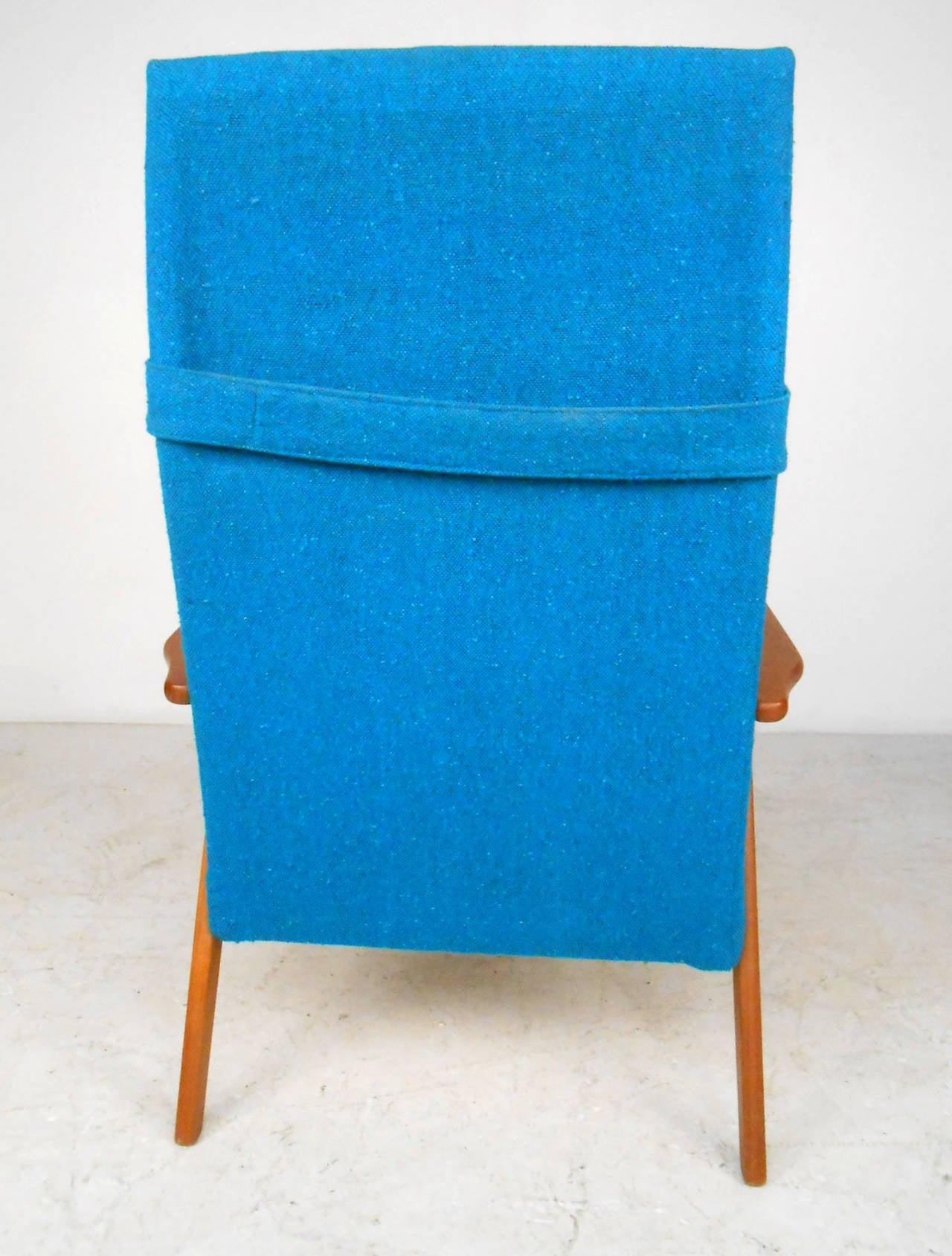 Mid-20th Century  Mid-Century Scandinavian Modern Highback Armchair For Sale