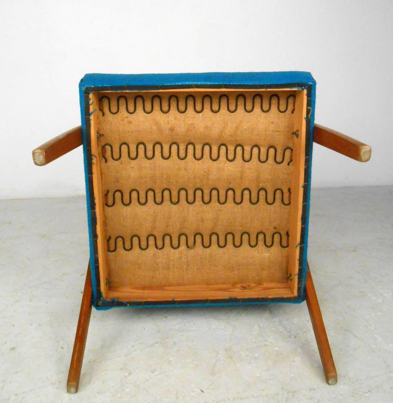 Mid-Century Scandinavian Modern Highback Armchair For Sale 3