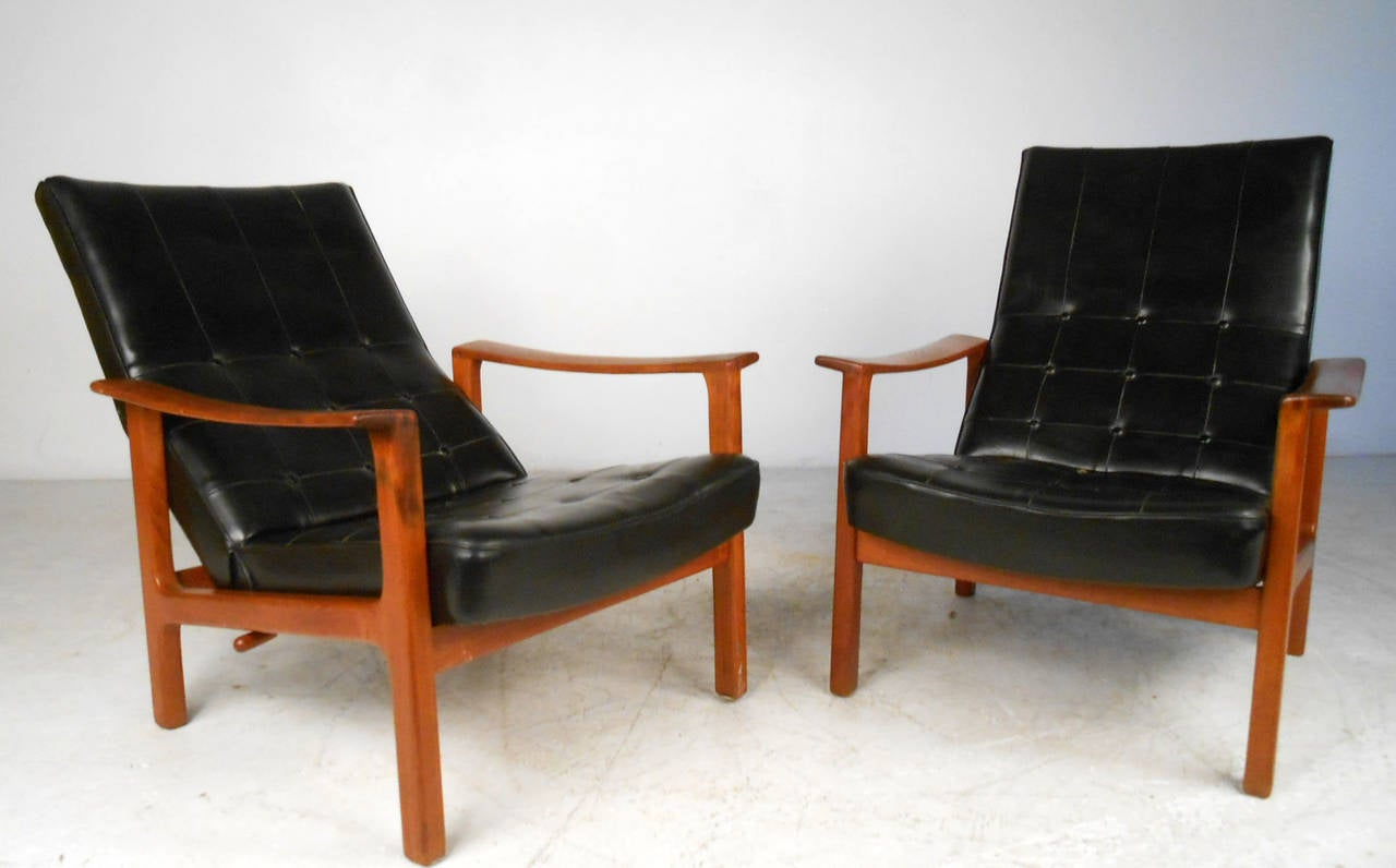Unique Pair Mid-Century Modern Bröderna Andersson Teak Recliner Lounge Chairs 3 & Unique Pair Mid-Century Modern Bröderna Andersson Teak Recliner ... islam-shia.org