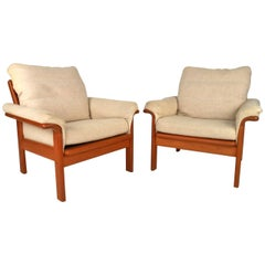 Pair of Beautiful Mid-Century Modern Danish Teak Armchairs
