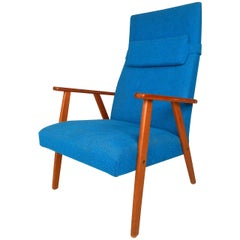 Mid-Century Scandinavian Modern Highback Armchair