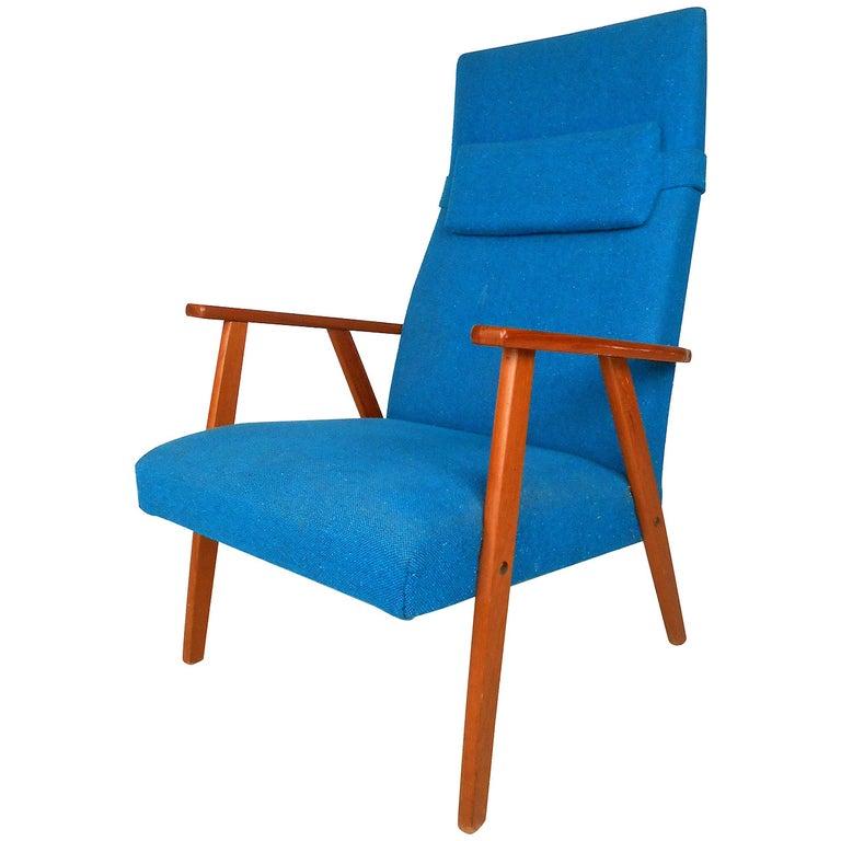 Mid-Century Scandinavian Modern Highback Armchair For Sale