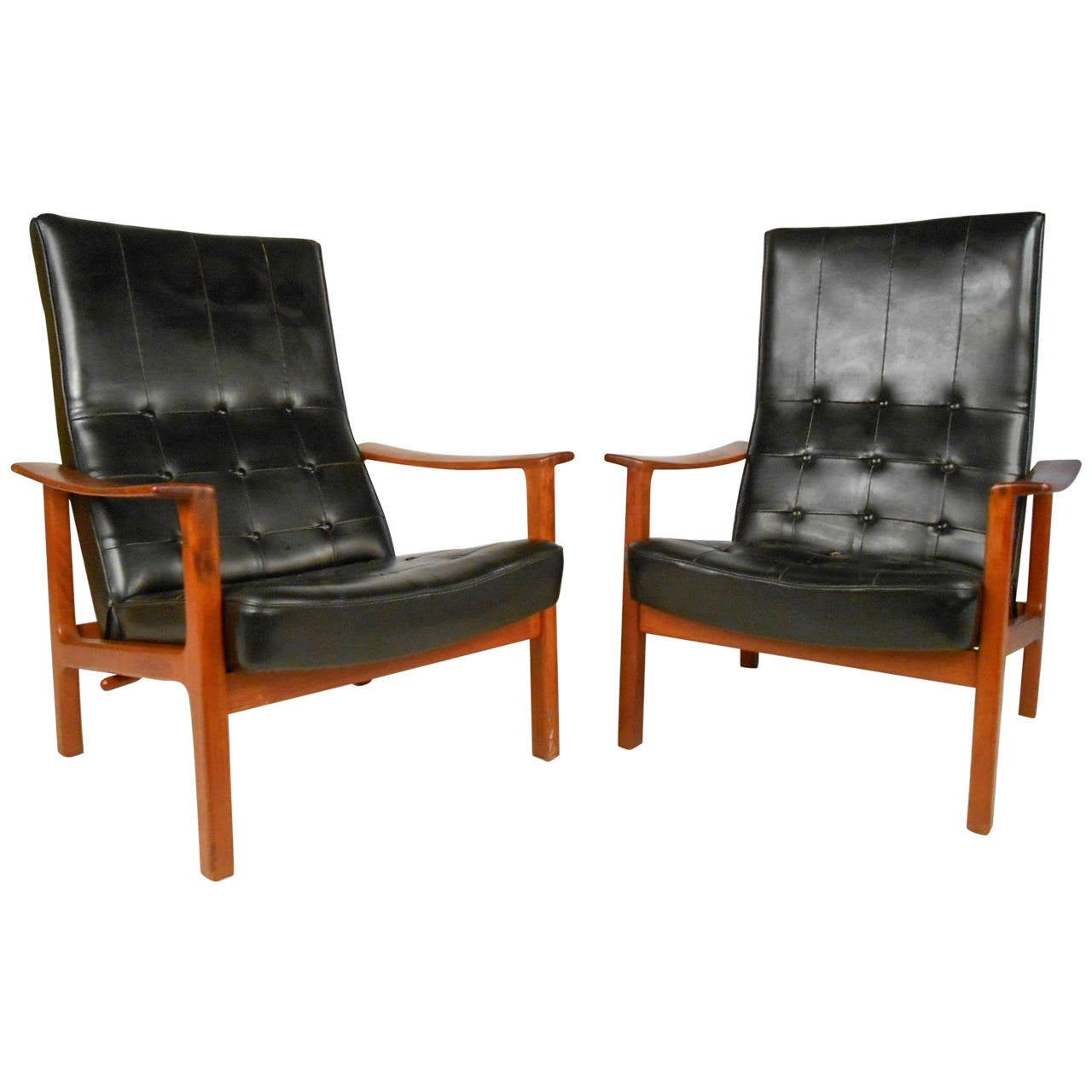 Unique Chair: Unique Pair Mid-Century Modern Bröderna Andersson Teak