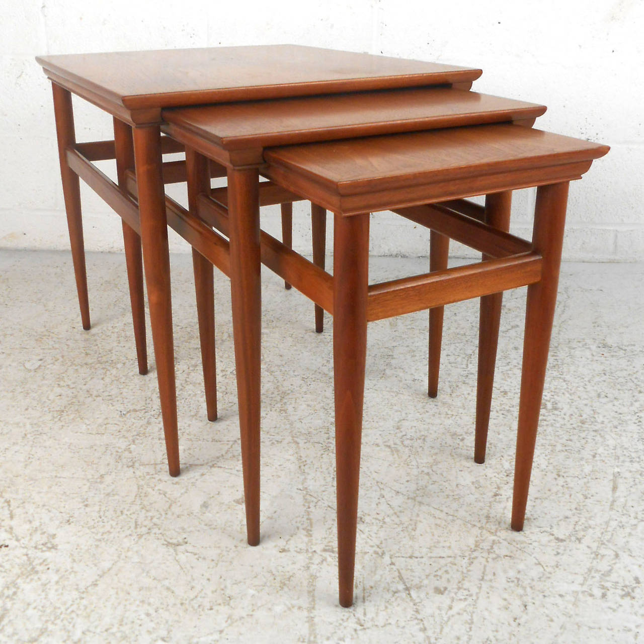 Contemporary Nesting Tables ~ Set of mid century modern nesting tables by heritage at