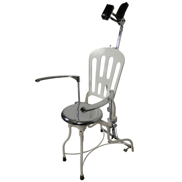 Antique Metal Dental Chair For Sale  sc 1 st  1stDibs & Antique Metal Dental Chair at 1stdibs