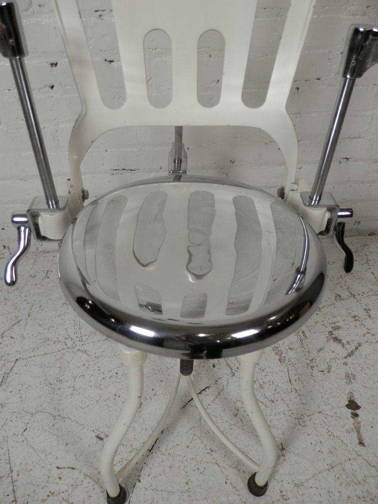 Antique Metal Dental Chair For Sale 1 - Antique Metal Dental Chair At 1stdibs