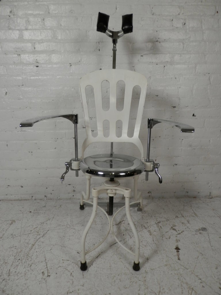 Antique Metal Dental Chair For Sale 6 - Antique Metal Dental Chair At 1stdibs