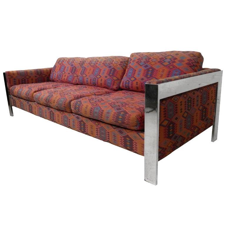 Milo Baughman Style Sofa by Selig