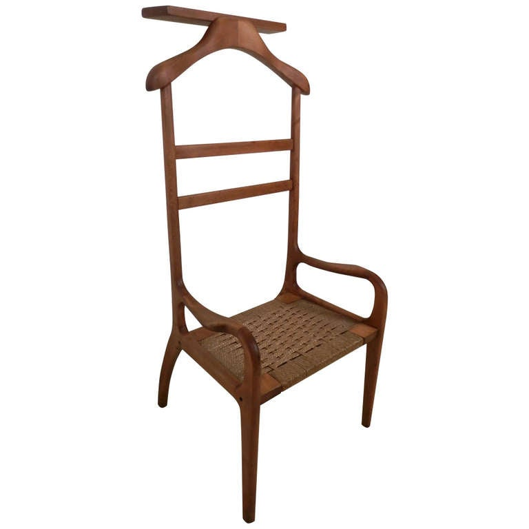 Vintage Modern Gentlemans Valet Chair at 1stdibs